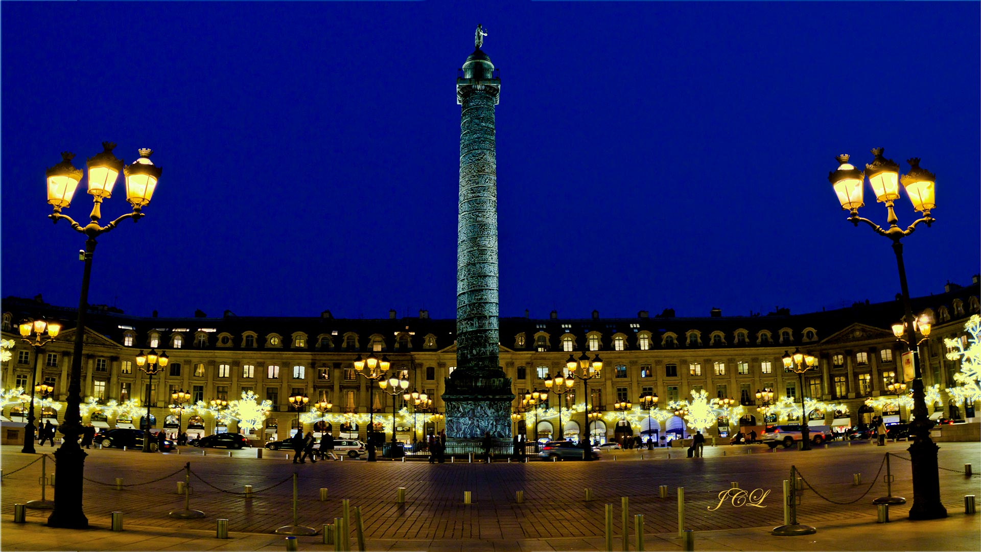 Place Vendome à Paris à Noel.